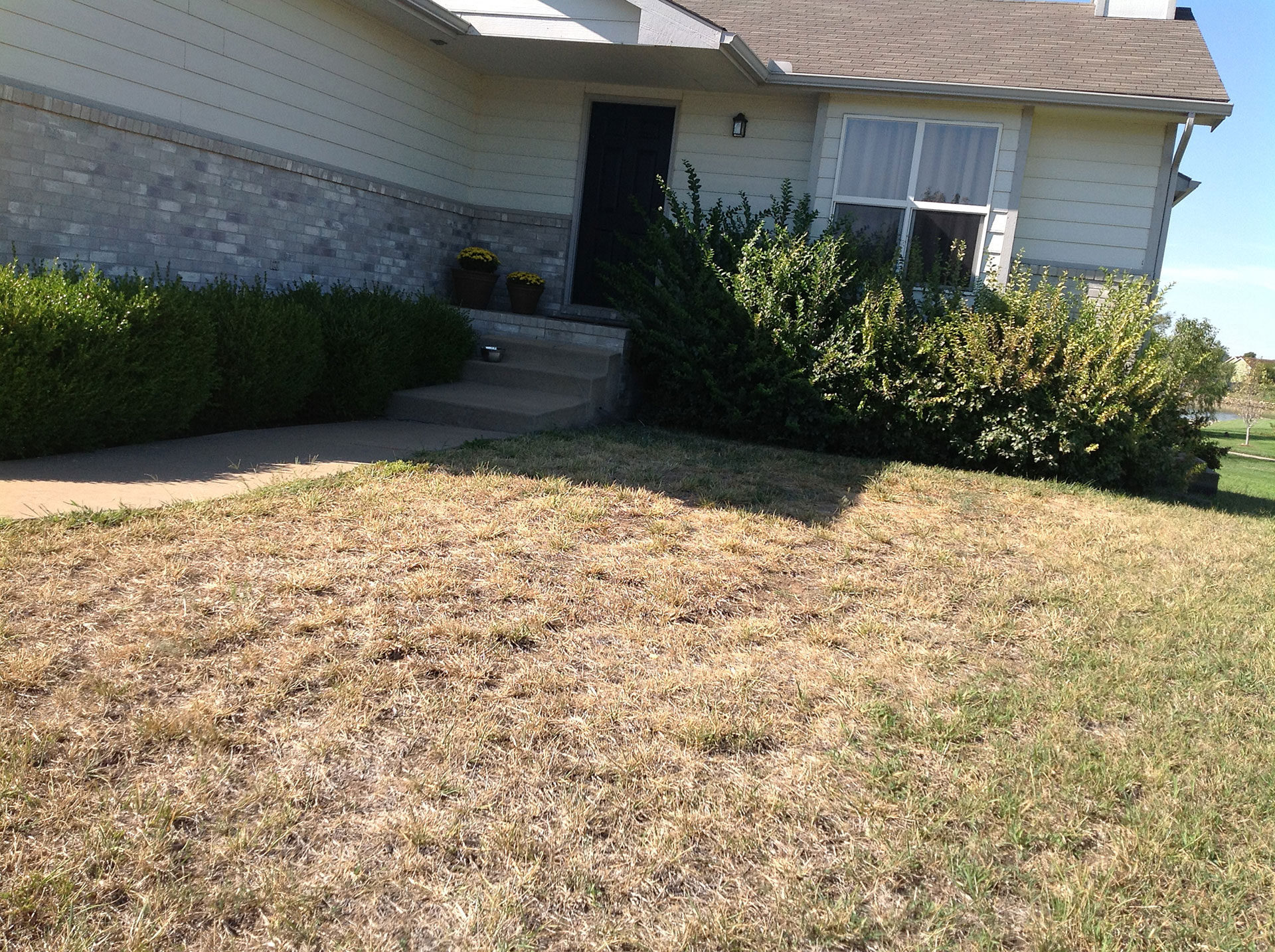Landscaping and lawn care before and after daniels for Lawn and garden care services