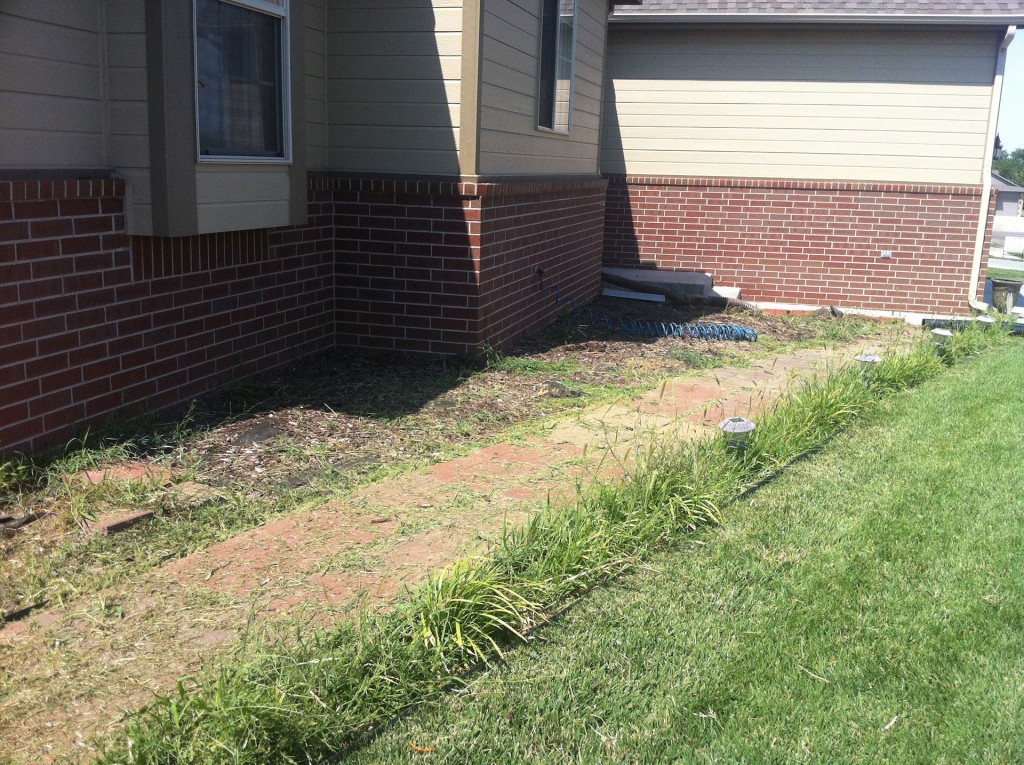 Landscape Design Services - Before - Wichita