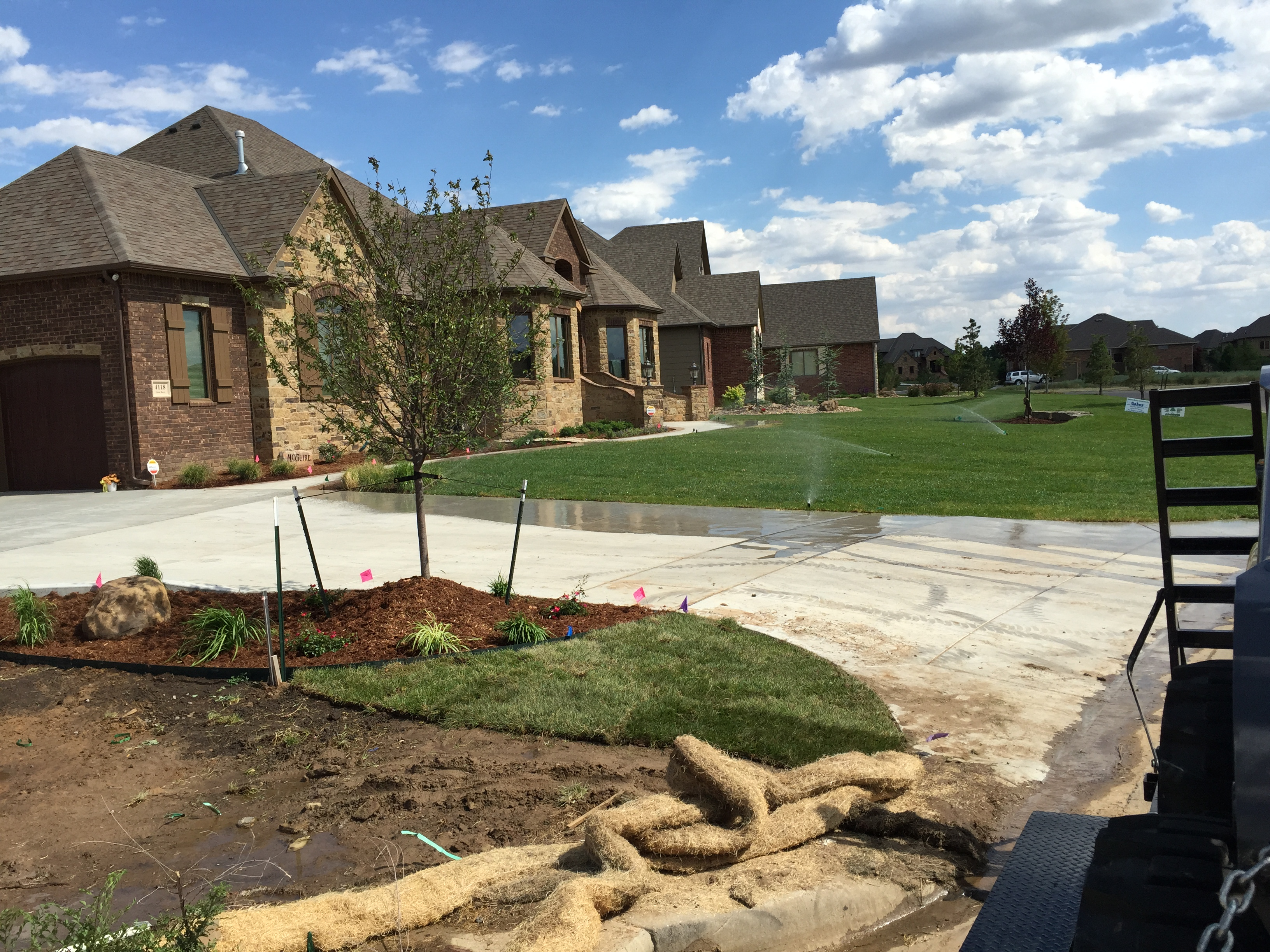 Landscaping and lawn care before and after daniels for Landscape construction