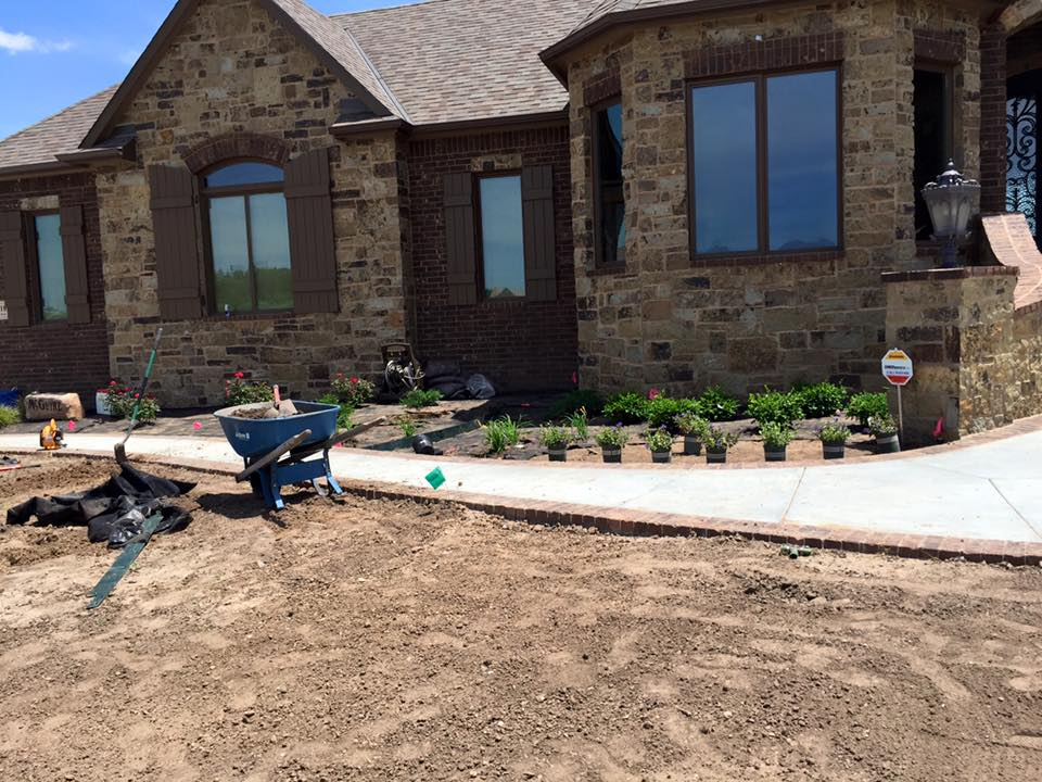 New Home Landscaping - In Process - Wichita