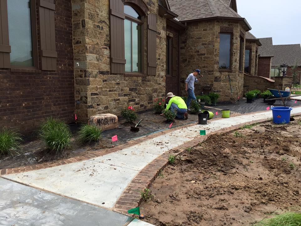 In Process of New Home Landscaping