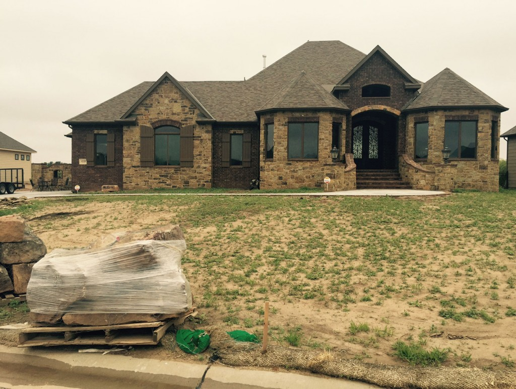 New Home Landscaping - Before - Wichita