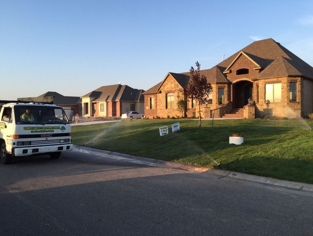 New Home Landscaping Completed - Wichita