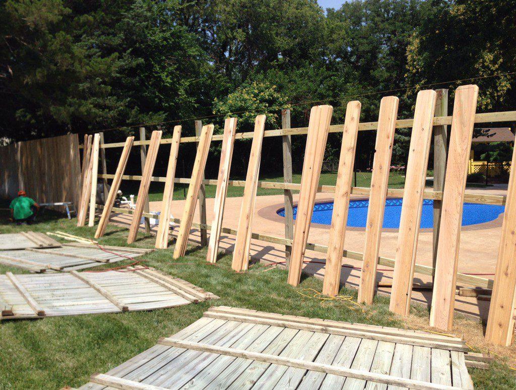 Wood Fence Installation - Wichita