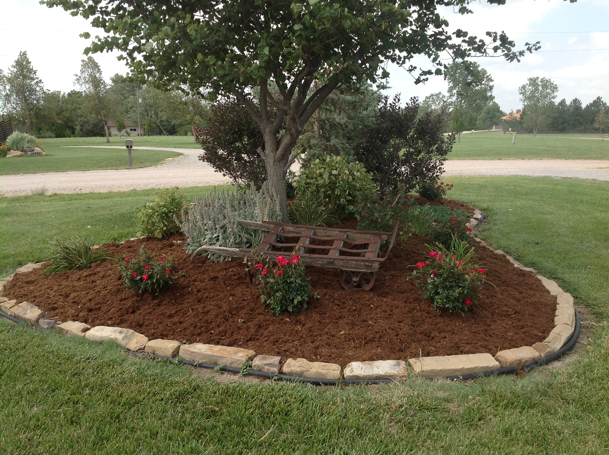 Landscape design daniels lawn and landscaping services for Mulch border ideas