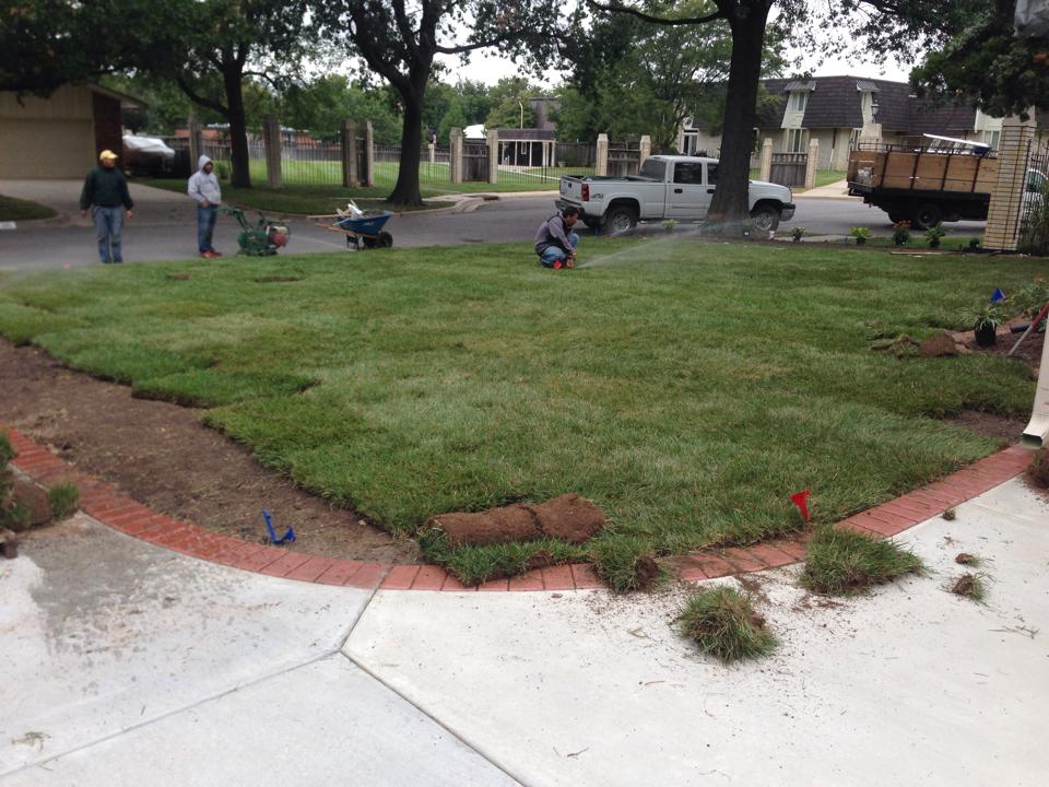 Sod Installation - After - Wichita