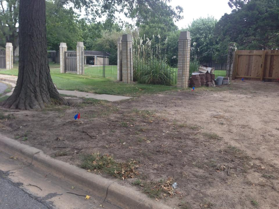 Sod Installation - Before - Wichita