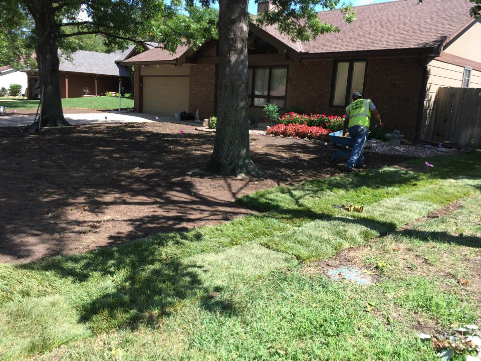 Installing Sod - Before - Wichita
