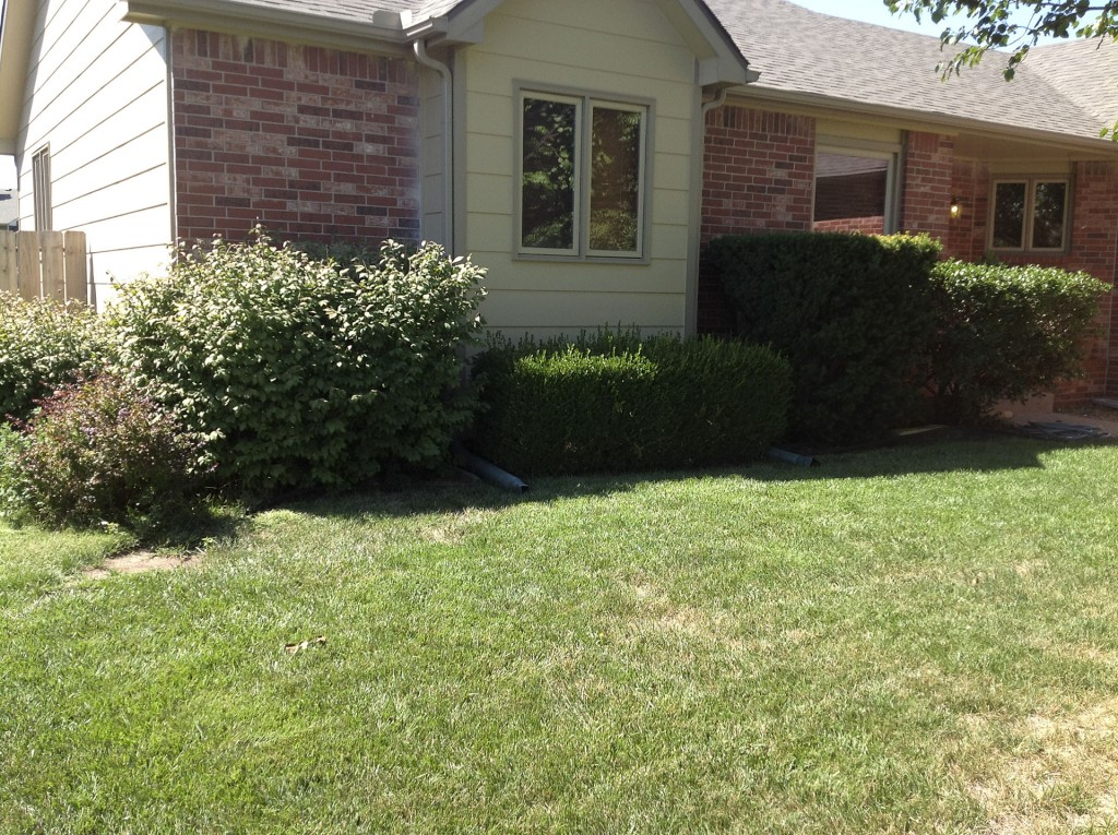 Landscape Design Service - Before - Wichita