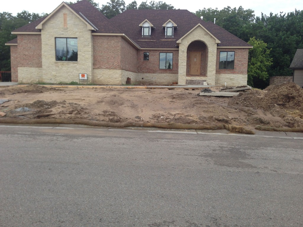 Landscape Construction - Before - Wichita