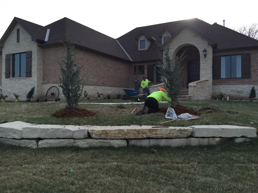 New Home Landscaping - Wichita