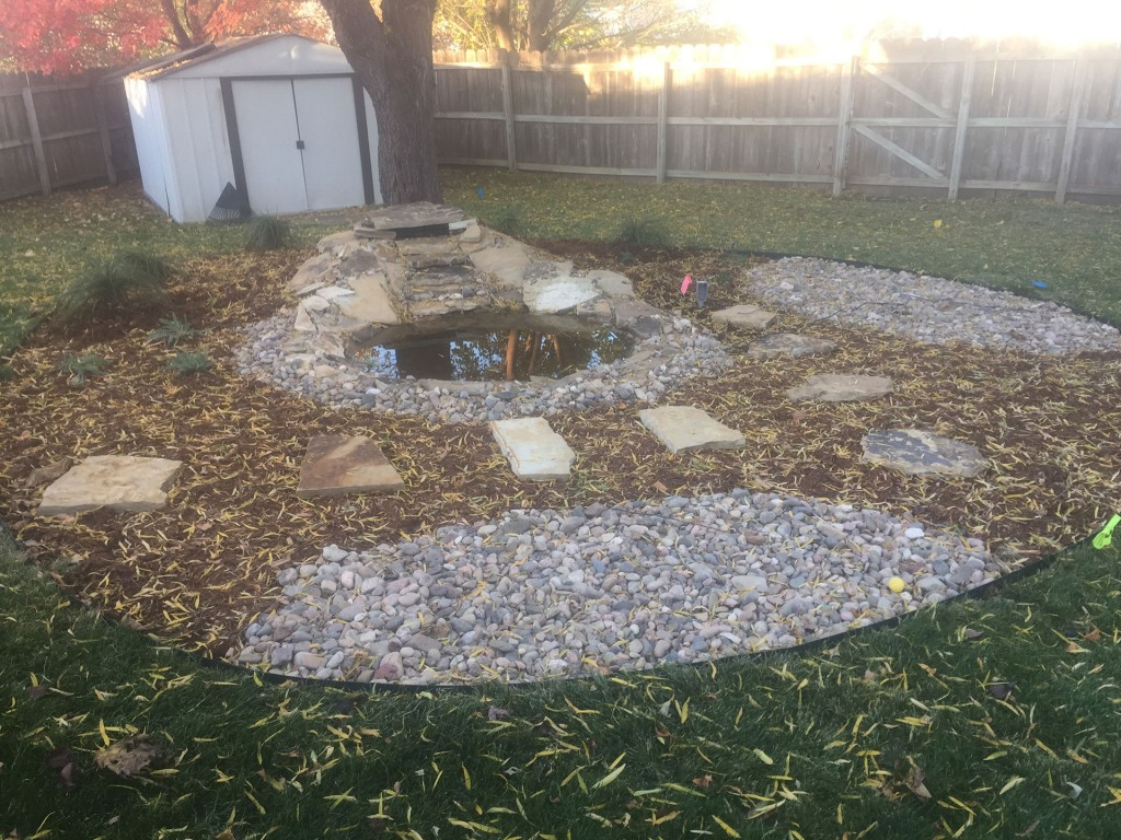 Landscape Construction - Water Feature - After - Wichita