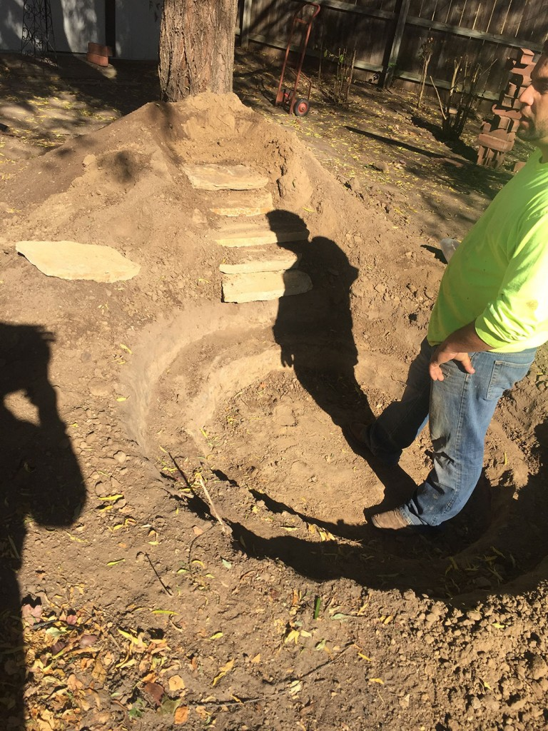 Landscape Construction - Water Feature - In Process - Wichita