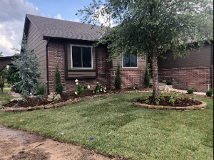 Existing Home Landscape Construction | Wichita