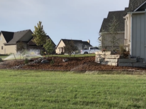 New Home Landscape Construction | Wichita