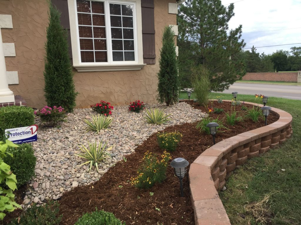 Existing Home Landscaping Construction | Daniels Lawn and ...