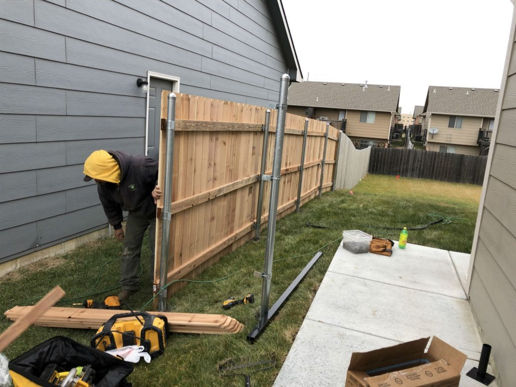 Wood Fence Installation - Wichita