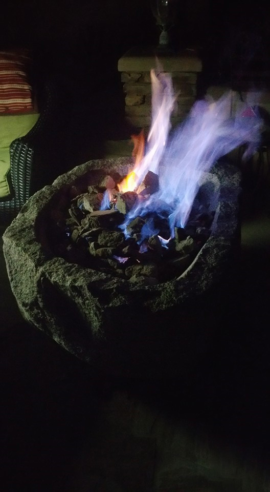 Custom Stone Fire Pit | Stone Fireplace